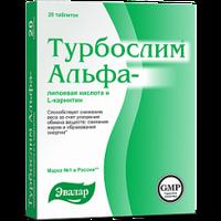 Турбослим Альфа-лип.к-та и L-карнитин таб.№60 по 0.55г блистер Эквалар Россия