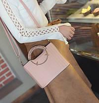 Элегантная женская сумка с круглыми ручками , фото 3
