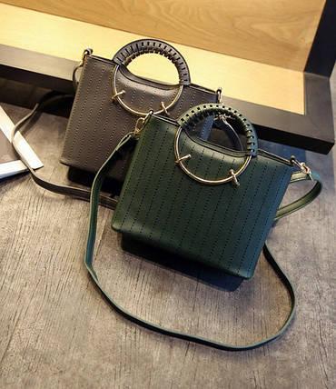 Элегантная женская сумка с круглыми ручками , фото 2