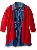 Комплект Limited Too джинсовое платье и кардиган красный