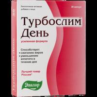 Турбослим день усил.форм.кап.№30 по 0.3г блистер Эвалар Россия