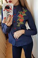 Женская рубашка с апликацией