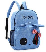 Милый тканевый рюкзак зайчик с глазками и ушками, фото 3