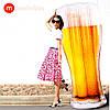 Modarina Надувной матрас Beer 180 см