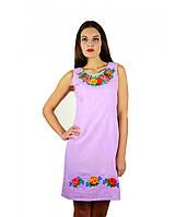 Сукня вишита. Сукня рожевого кольору вишита. Жіночі вишиті сукні.