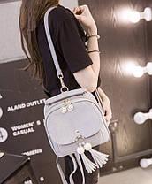 Модный городской рюкзак с кисточками, фото 3