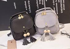 Модный городской рюкзак с кисточками, фото 2