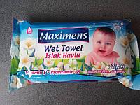 Влажные салфетки «Maximens». 72 шт