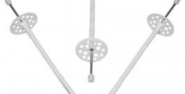 Дюбель для крепления термоизоляции с металлическим гвоздем и термоголовкой (KI-MP)