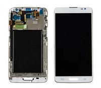 Дисплей (LCD) LG D680 G Pro Lite/  D682 G Pro Lite Dual с сенсором белый + рамка