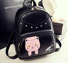 Вместительный городской рюкзак с котиком и рыбками , фото 3