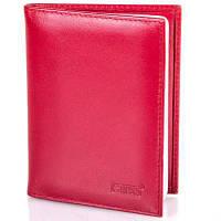 Красная женская кожаная обложка grass shi555-5 для водительских документов