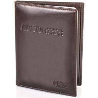 Темно-коричневая мужская кожаная обложка grass shi555-4 для водительских документов