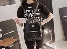 Модный городской рюкзак с кольцом и кисточкой , фото 3