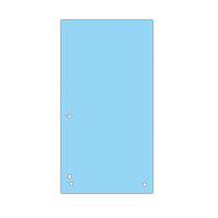 Индекс-разделитель 105х230 мм, 100шт., картон, синий 8620100-10pl
