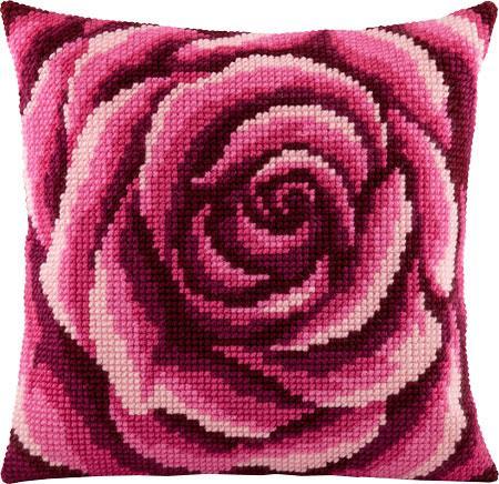 Подушка для вышивания крестом Роза