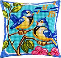 Подушки для вишивання хрестом Пташині трелі