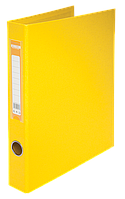 Папка регистратор на 2-х кольцах А4 buromax bm.3101-08 желтая ширина торца 40мм