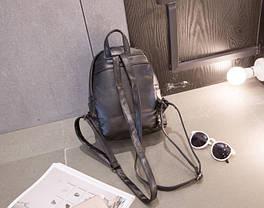 Модный городской рюкзак с заклепками- сотами , фото 3