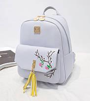 Міський рюкзак з пензликами і квітами для модних дівчат, фото 3