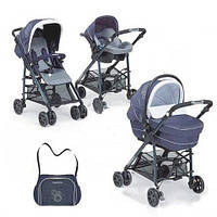 Универсальная коляска 3в1 Foppapedretti Tuo Glamour (Blue Silver)