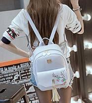 Городской рюкзак с кисточками и цветами для модных девушек , фото 2