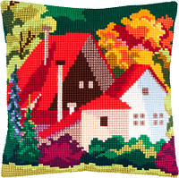 Подушки для вышивания крестом Осенний пейзаж