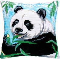 Подушки для вышивания полукрестом Панда