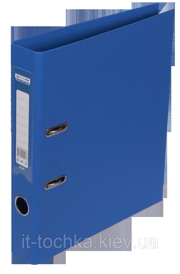 Регистратор двухсторонний А4 elite, ширина торца 50мм, синий bm.3002-02c