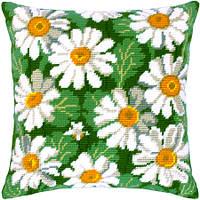 Подушки для вышивания полукрестом Ромашки