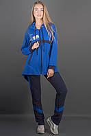 Женский спортивный костюм комбинированный двухцветный Армета цвет электрик размер 46-52