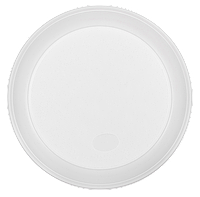 Тарелка одноразовая, d-205 мм, белая, 1-секция, 5,5-6 г, 100 шт 1080110