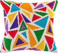 Подушки для вышивания полукрестом Радужные витражи