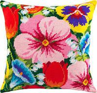Подушки для вышивания полукрестом Цветочная клумба