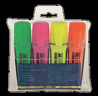 Комплект: 4 флуоресцентных текст-маркеров  с резиновыми вставками bm.8900-94
