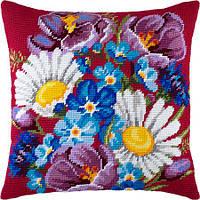 Подушки для вышивания полукрестом Букет из полевых цветов
