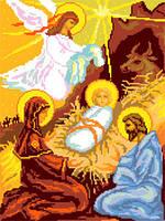Набор для вышивания иконы с мулинэ Рождество Христово