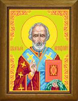 Набор для вышивания иконы с мулинэ Образ Святого Николая