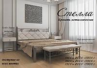 Кровать полуторная металлическая Стелла  структура (змеиная кожа)