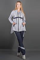 Женский спортивный костюм комбинированный двухцветный Армета цвет серый размер 46-52