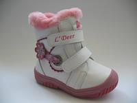 Зимние ботиночки для девочек ТМ B&G 24р.