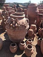Садовый вазон из глины ( под заказ)