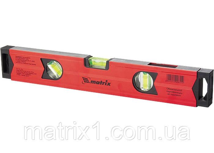 Уровень алюминиевый магнитный, 1000 мм, фрезерованный, 3 глазка (1 зеркальный), усиленный// MTX