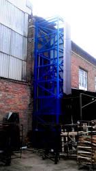 Подъёмник (лифт) шахтный снаружи здания г/п 500 кг.