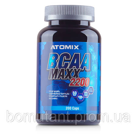 BCAA Maxx 2200 200 капсул ATOMIXX