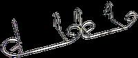 Подвесная кованая подставка для цветов Держатель Балконный 100