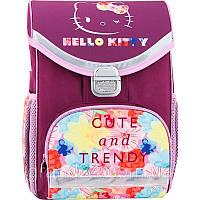 Малиновый рюкзак для девочки KITE Hello Kitty №HК17-529S каркасный