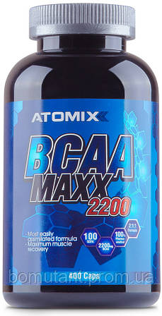 BCAA Maxx 2200 400 капсул ATOMIXX