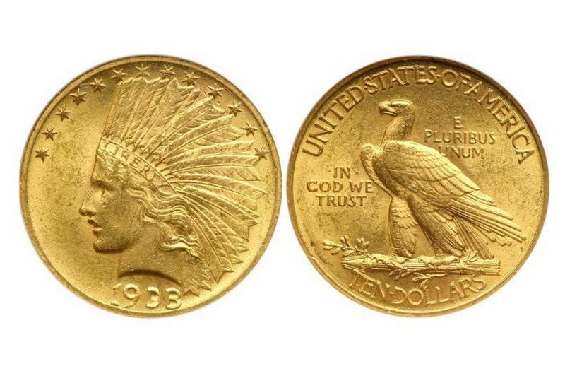США 10 долларов 1933 год и560