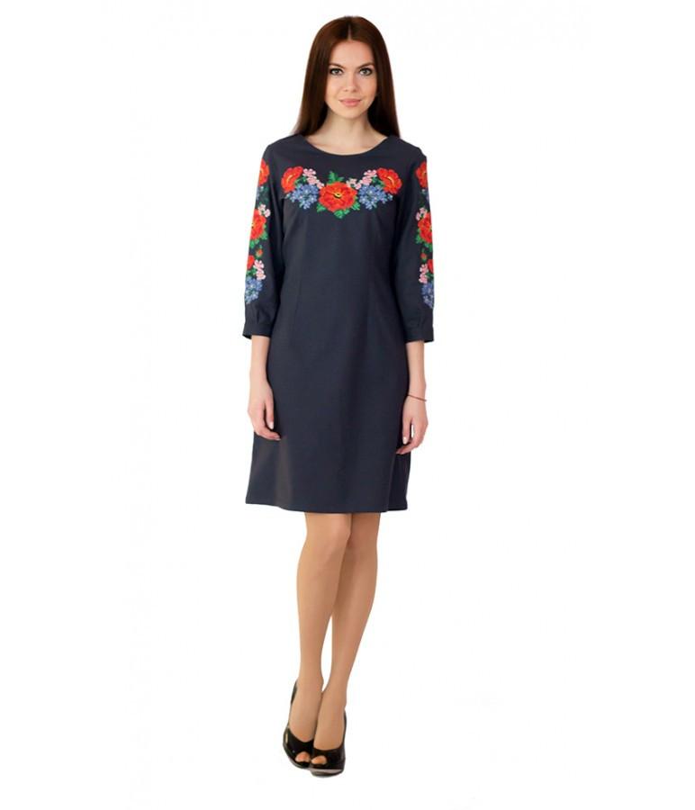 Плаття вишиванка. Сукня вишита. Сучасна сукня вишита хрестиком. Сукні жіночі.